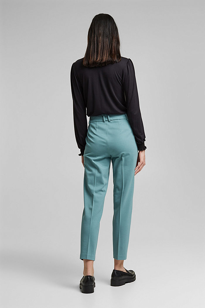 SOFT PUNTO Mix + Match stretch trousers, DARK TURQUOISE, detail image number 3
