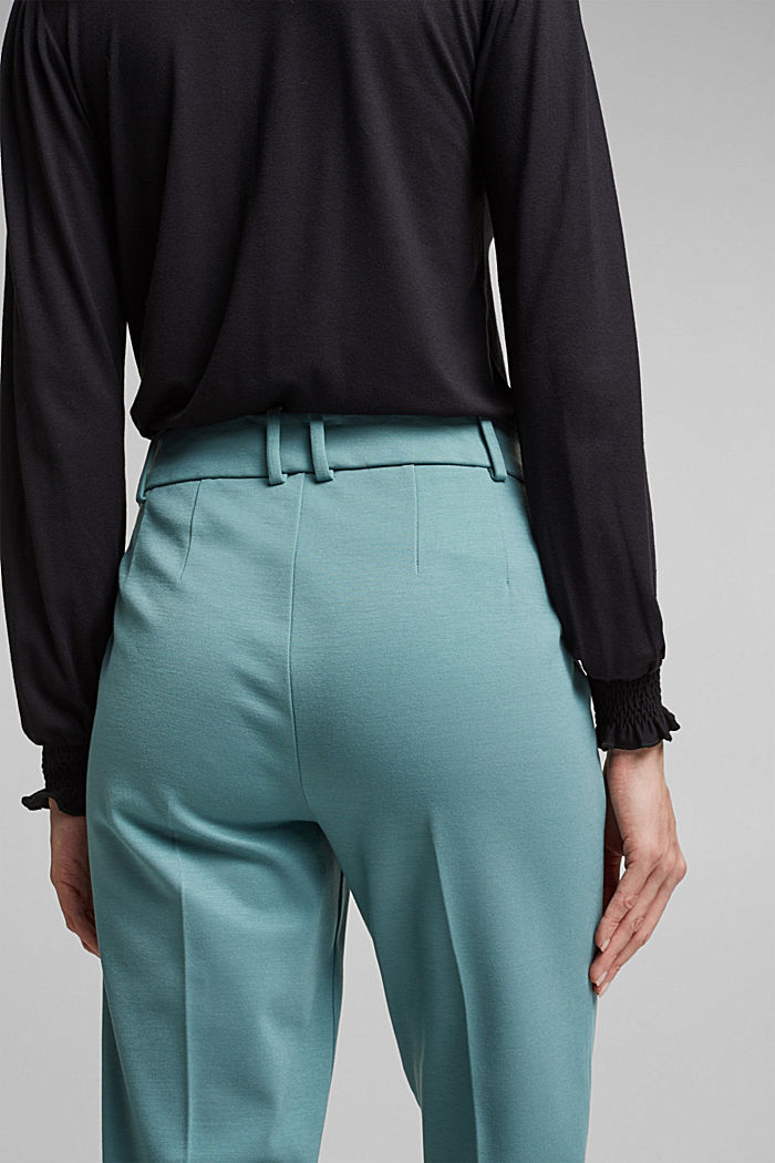 SOFT PUNTO Mix + Match stretch trousers, DARK TURQUOISE, detail image number 5