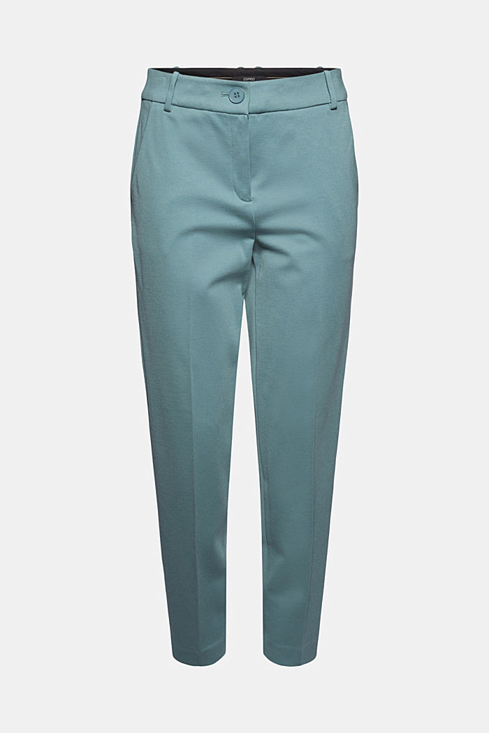 SOFT PUNTO Mix + Match stretch trousers, DARK TURQUOISE, detail image number 7