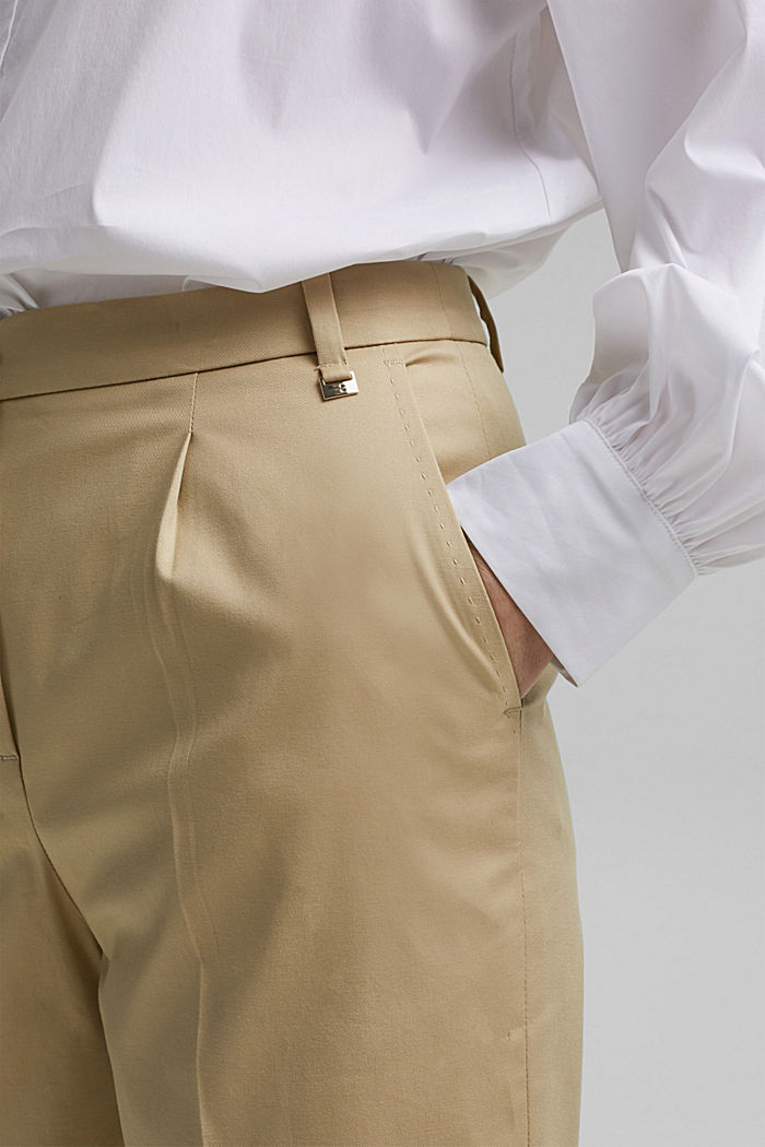 Business-Chino aus Baumwollstretch, SAND, detail image number 2