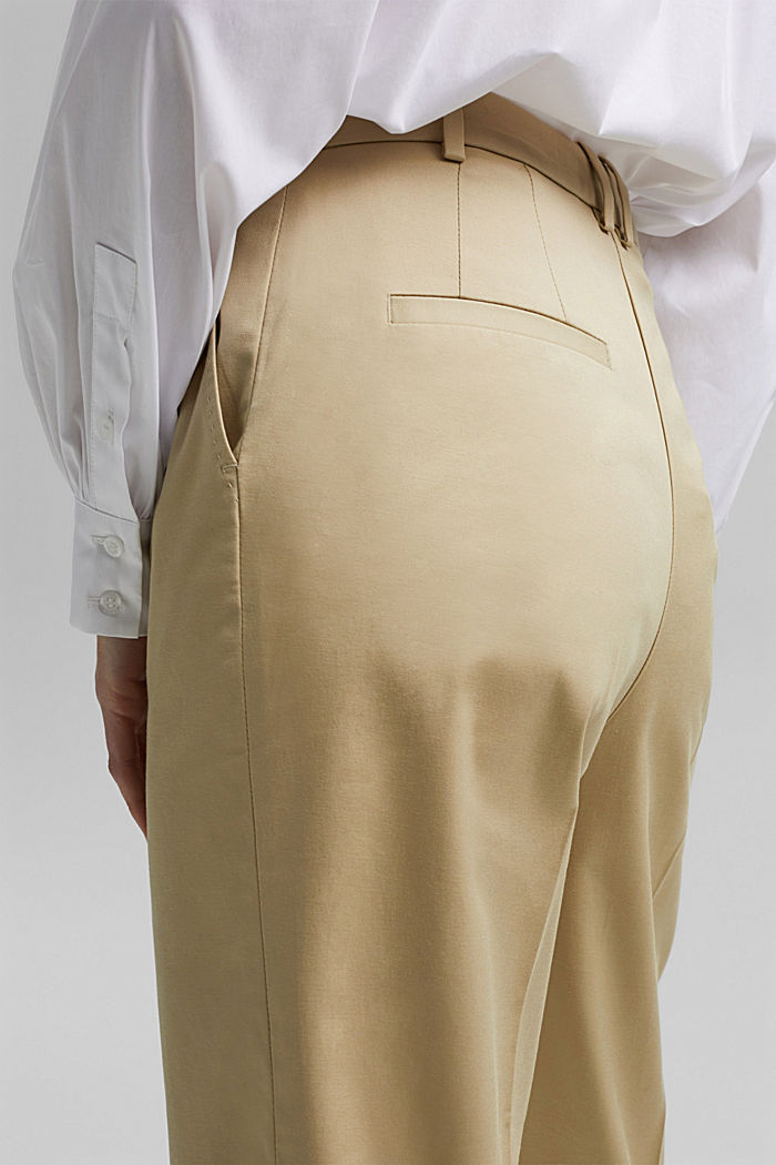 Business-Chino aus Baumwollstretch, SAND, detail image number 5