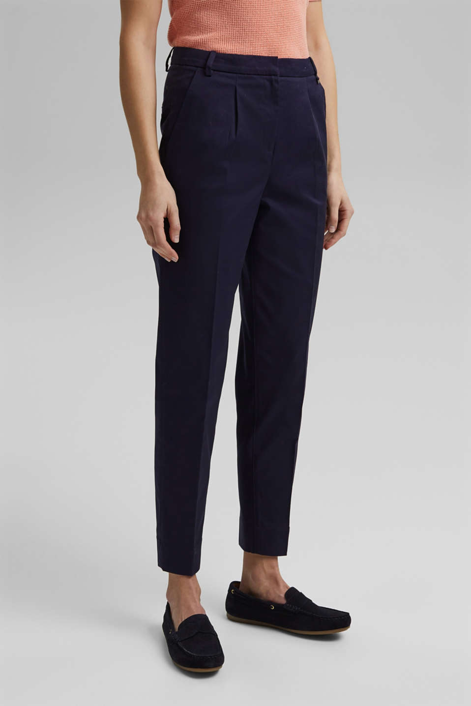 Esprit - Chino business en coton stretch