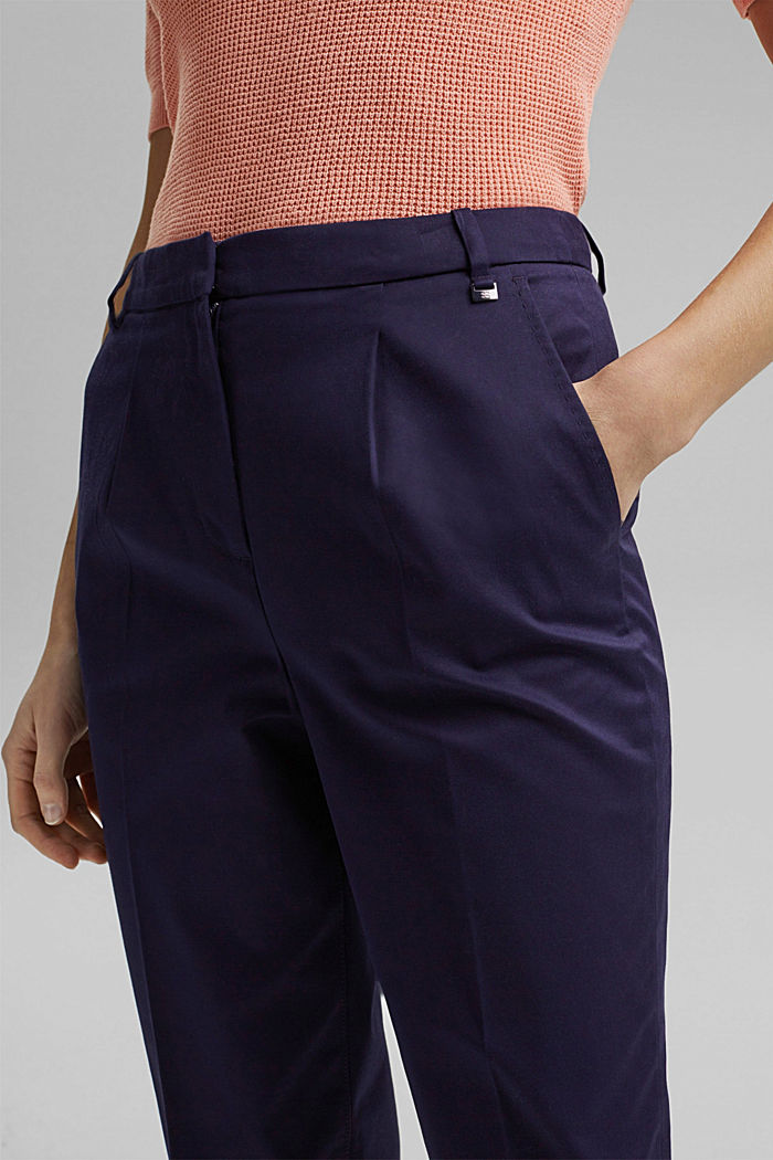Business chinos made of stretch cotton, NAVY, detail image number 2