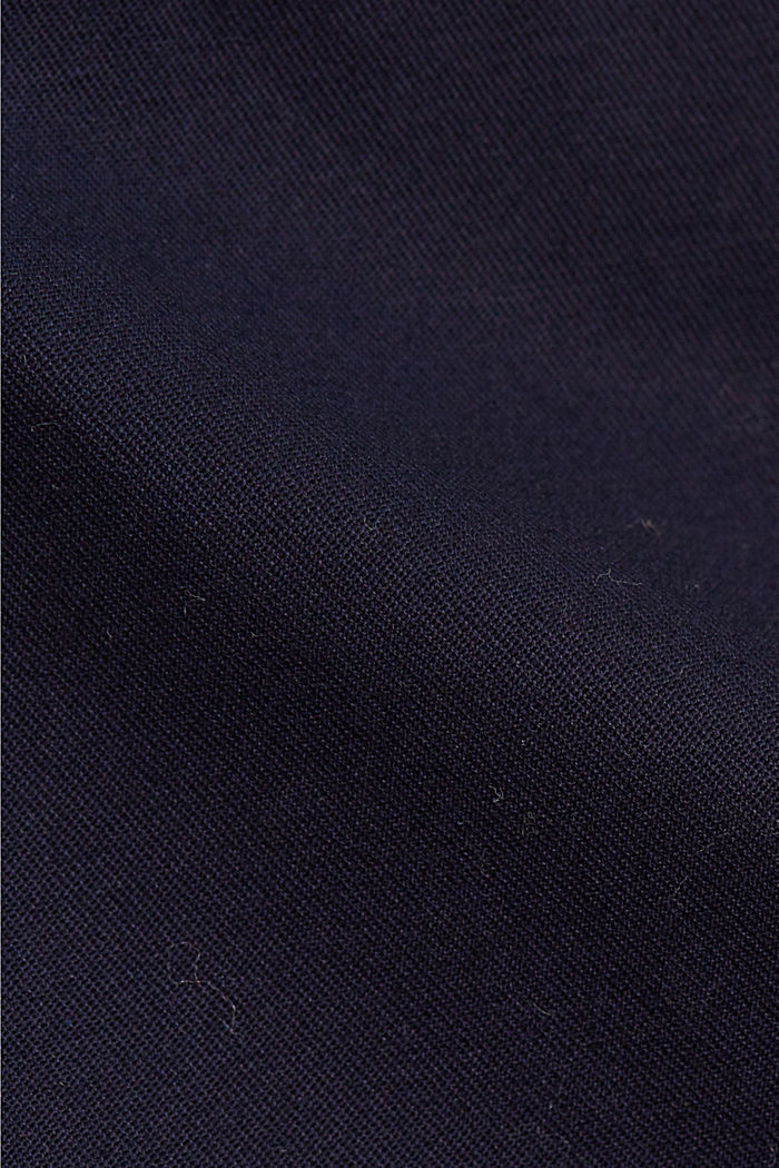 Business chinos made of stretch cotton, NAVY, detail image number 4