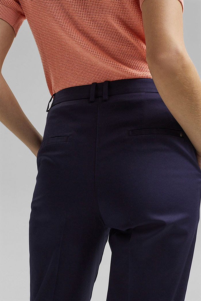 Business chinos made of stretch cotton, NAVY, detail image number 5