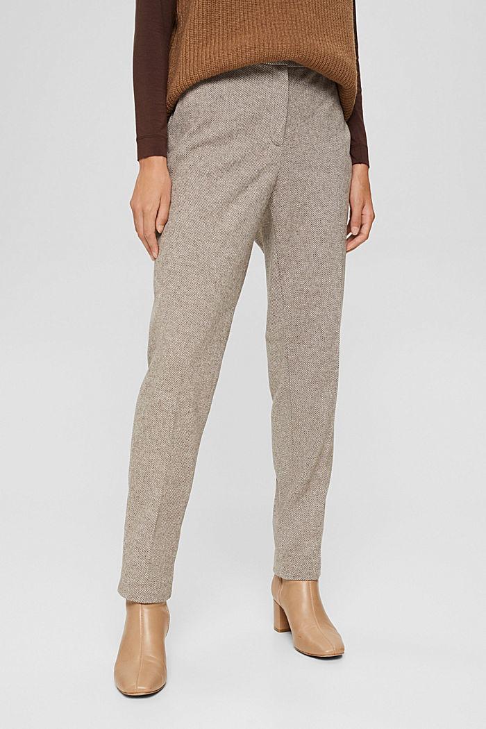 Pants woven, CARAMEL, detail image number 0