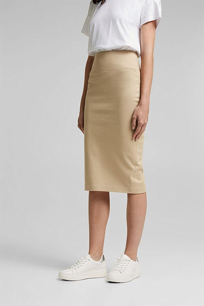 SOFT PUNTO Mix + Match stretch skirt, SAND, detail image number 0