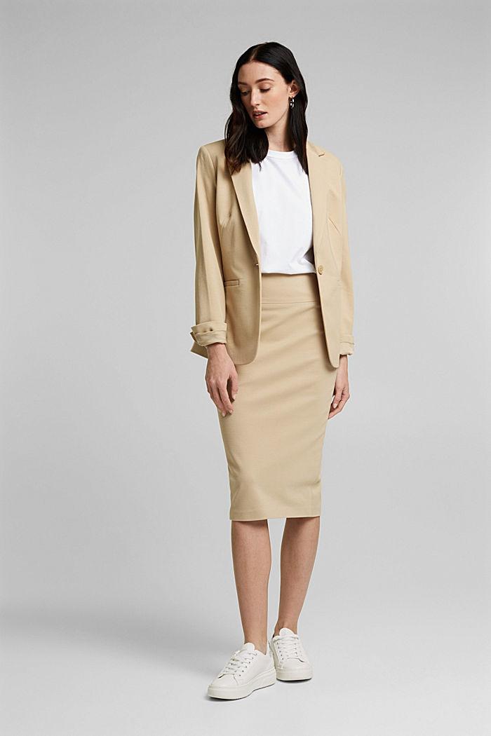 SOFT PUNTO Mix + Match stretch skirt, SAND, detail image number 1