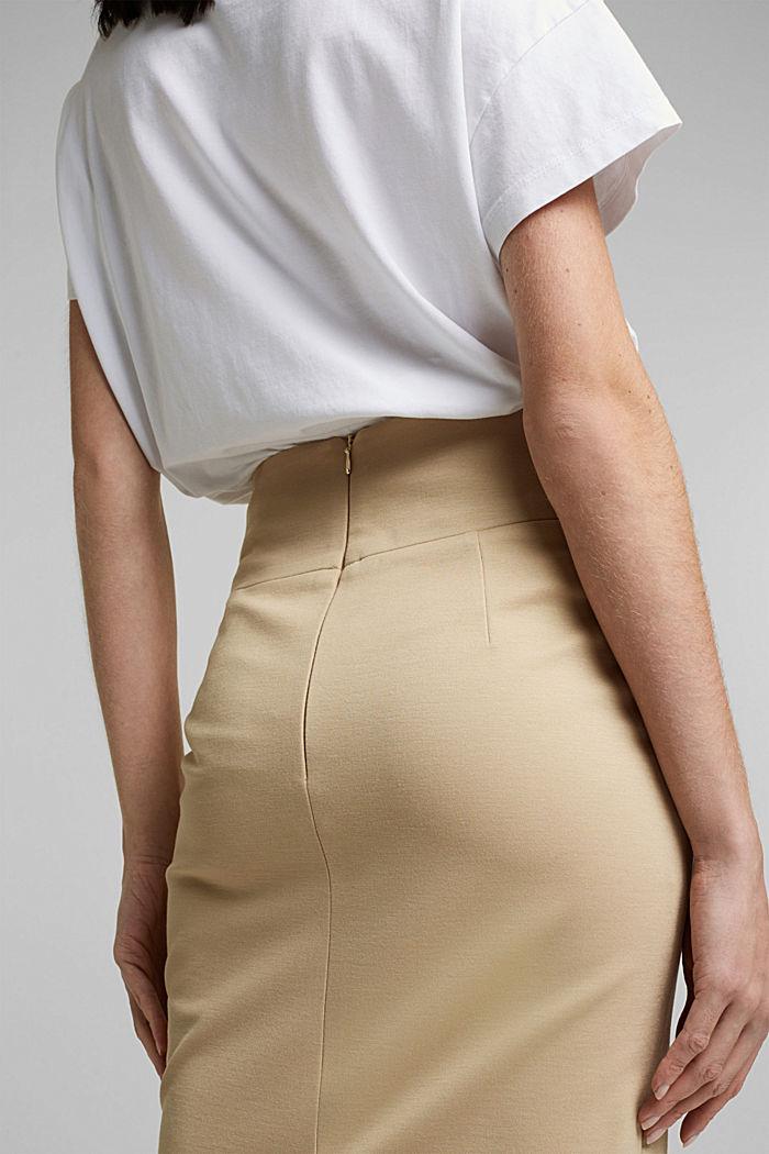 SOFT PUNTO Mix + Match stretch skirt, SAND, detail image number 2