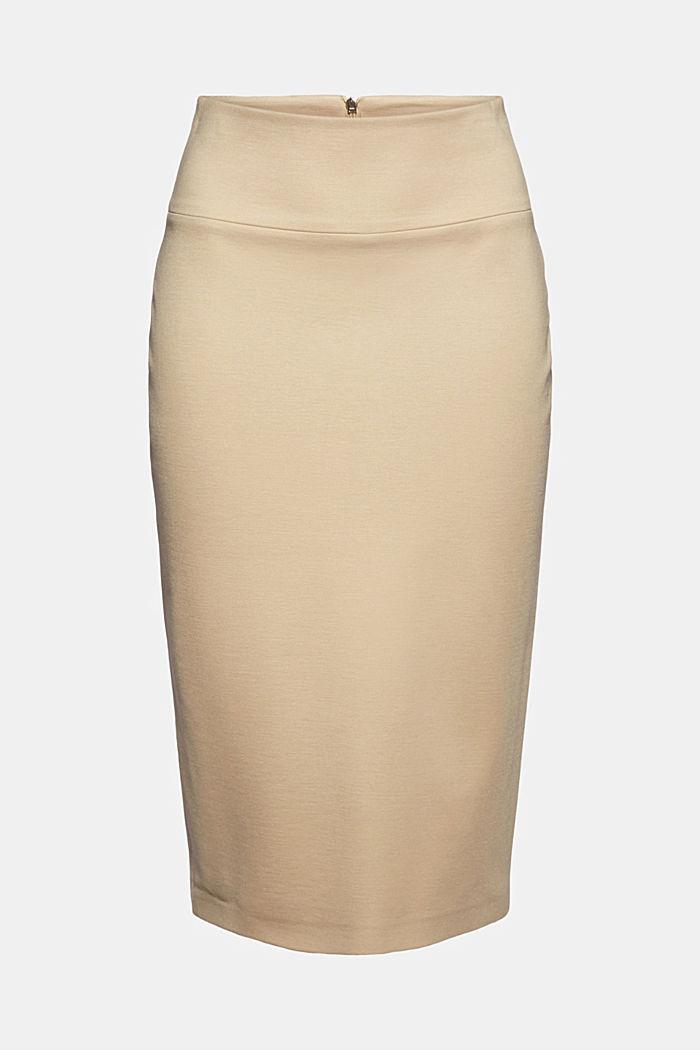 SOFT PUNTO Mix + Match stretch skirt, SAND, detail image number 5