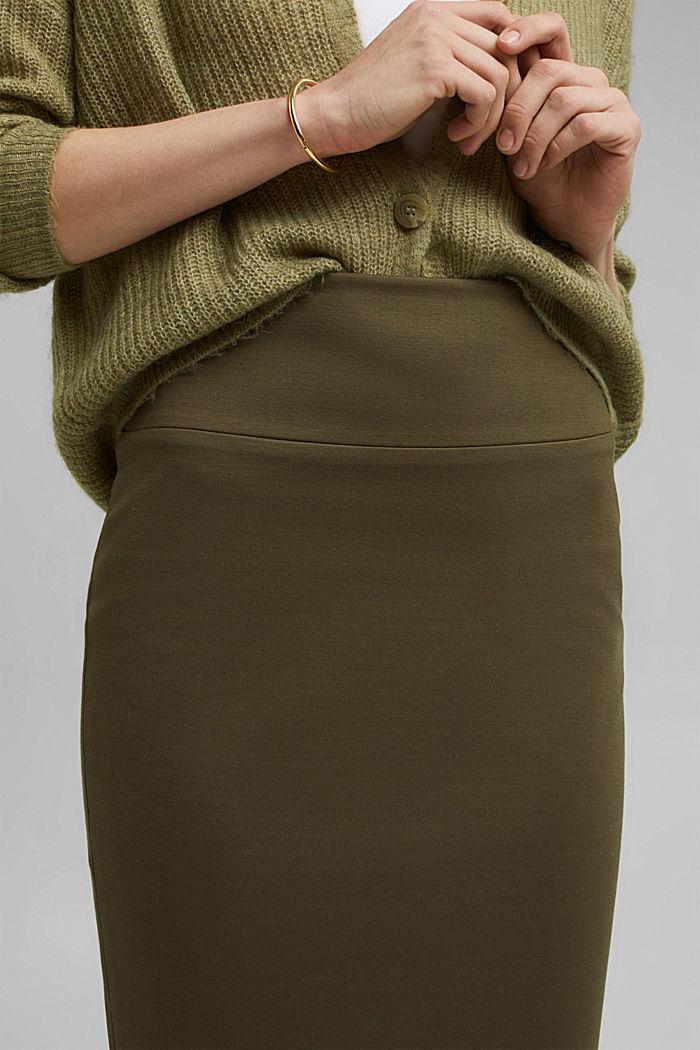 Jupe stretch Mix + Match SOFT PUNTO, DARK KHAKI, detail image number 2