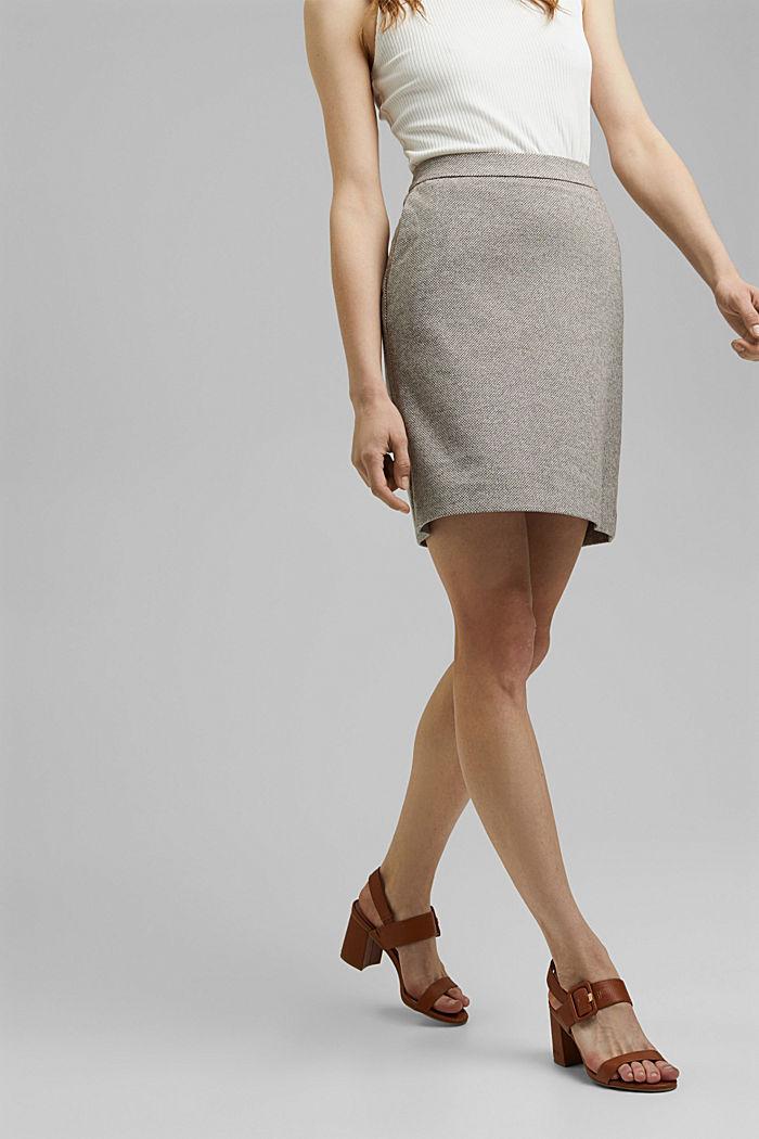 SOFT mix + match A-line skirt, CARAMEL, detail image number 0