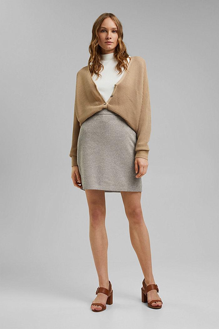 SOFT mix + match A-line skirt, CARAMEL, detail image number 1