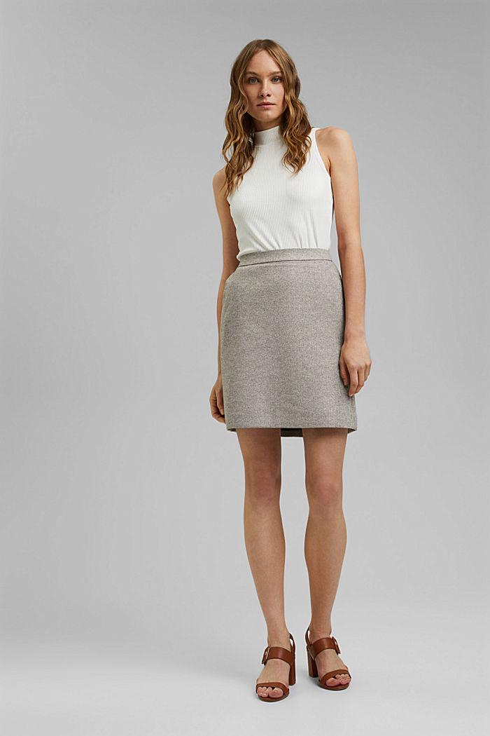 SOFT mix + match A-line skirt, CARAMEL, detail image number 8