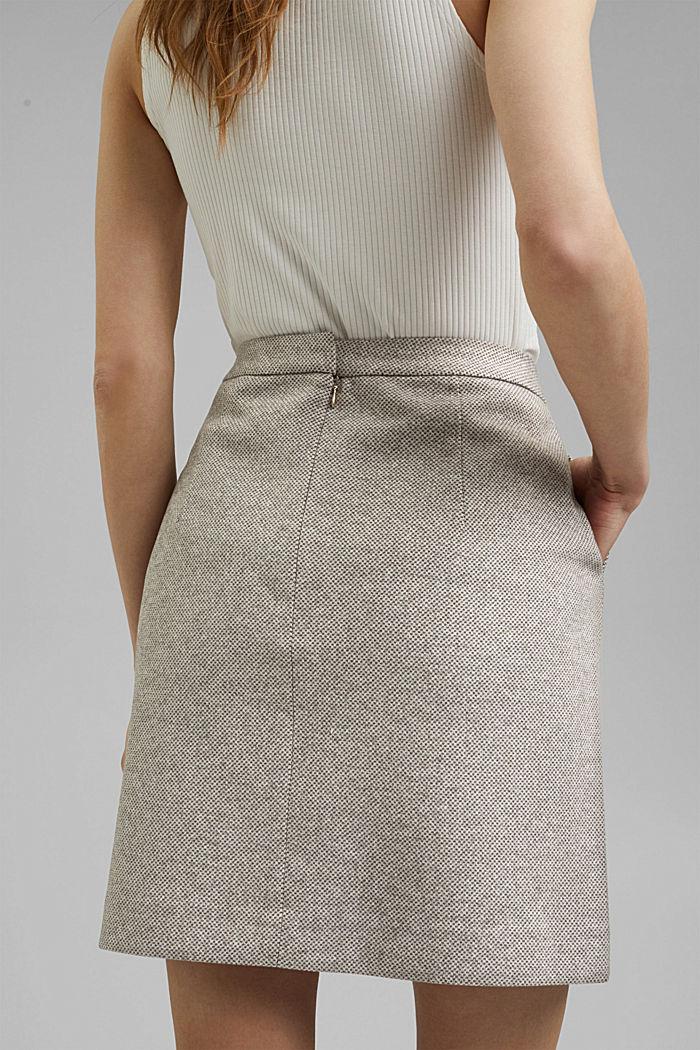 SOFT mix + match A-line skirt, CARAMEL, detail image number 5