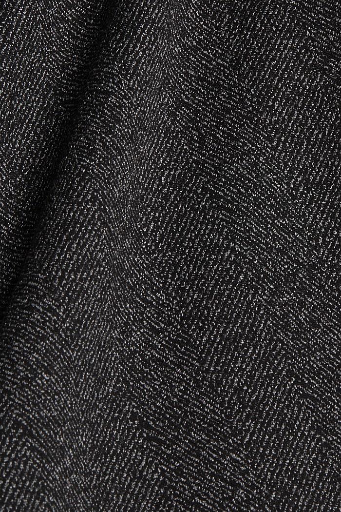 Mix + Match HERRINGBONE rok in A-lijn, BLACK, detail image number 4