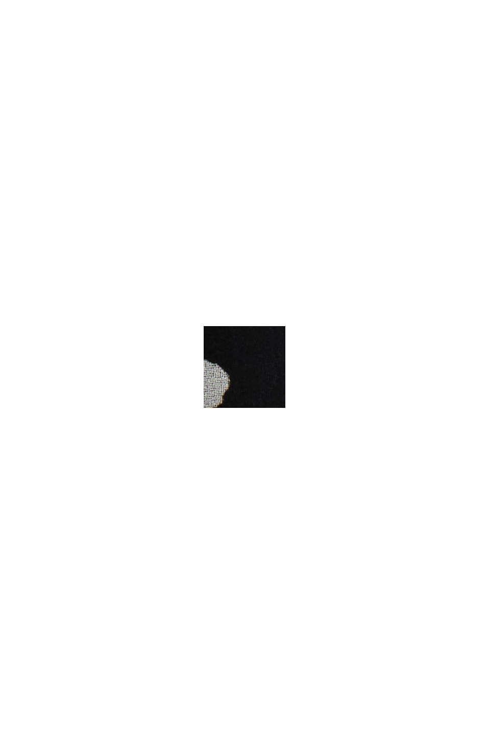 Recycelt: Chiffon-Kleid mit geraffter Taille, BLACK, swatch
