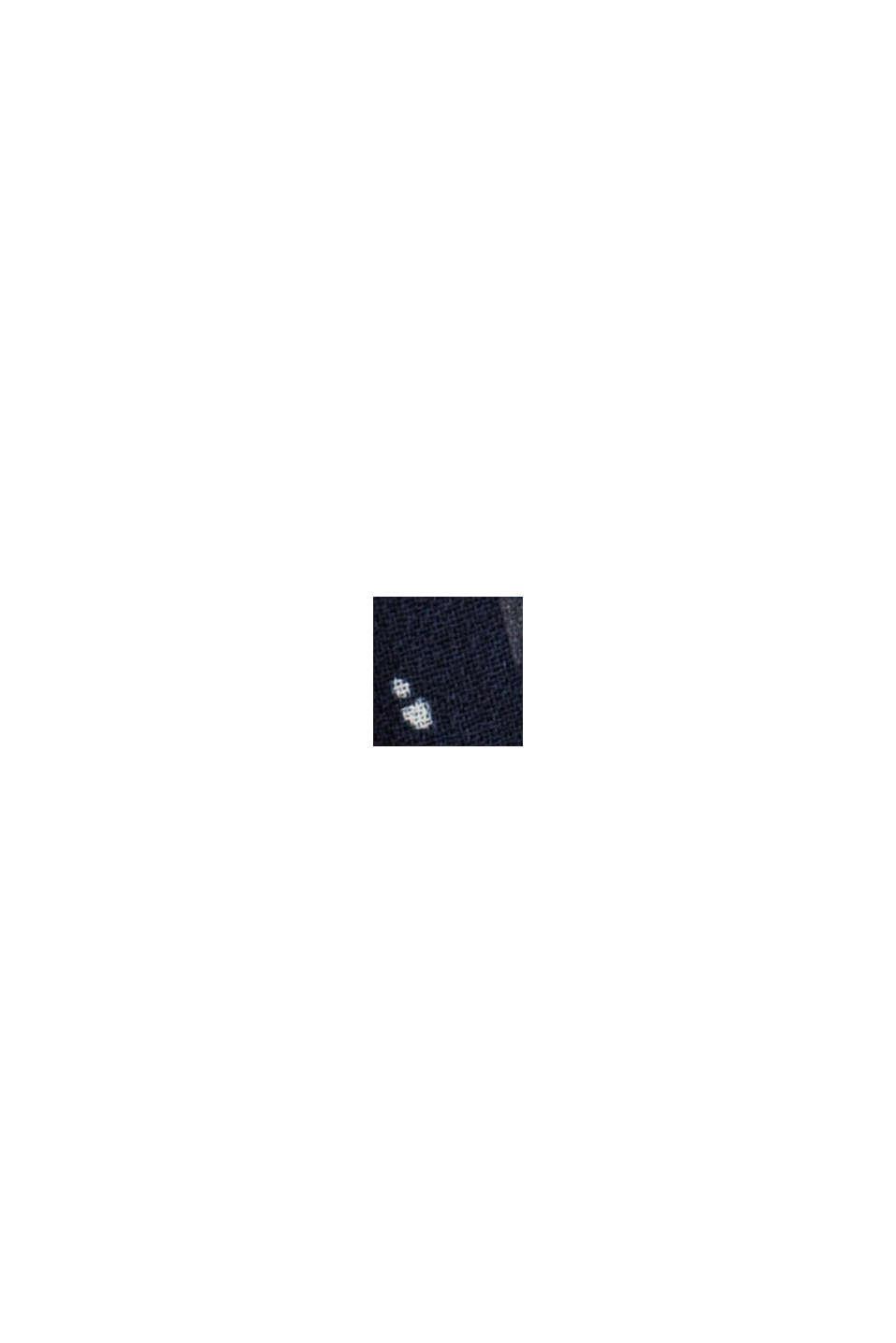 Recycelt: Chiffon-Kleid mit geraffter Taille, NAVY, swatch