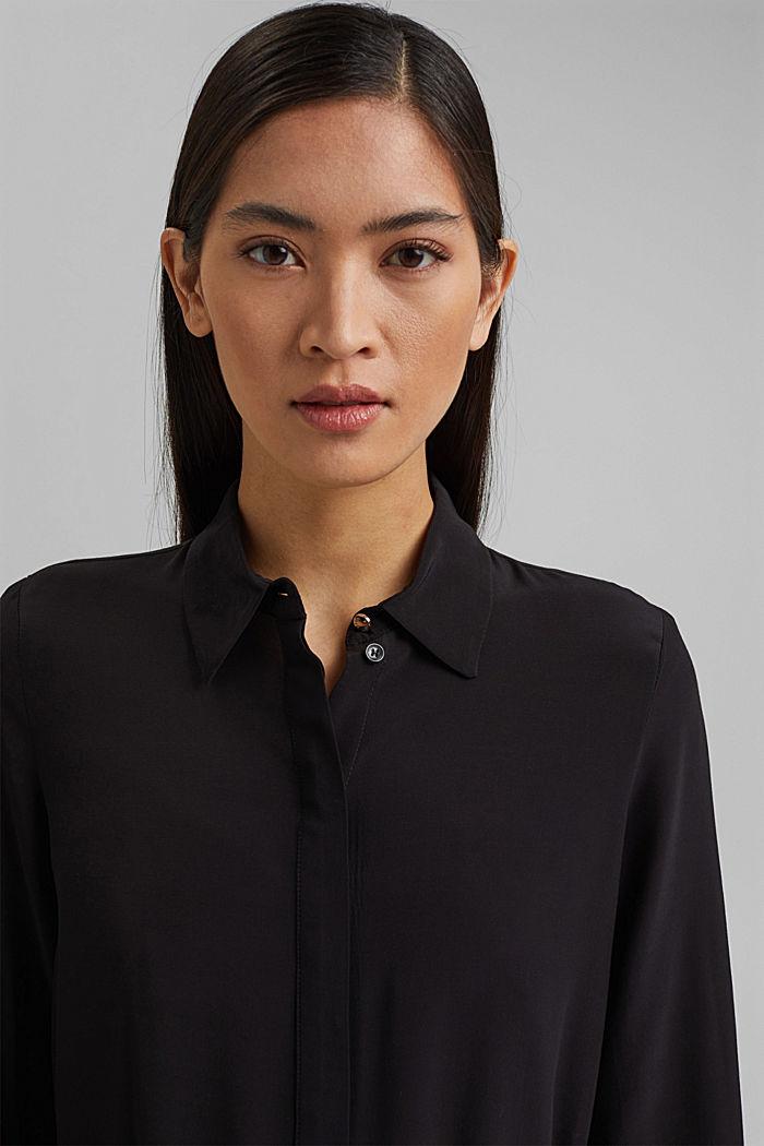 Shirt dress with LENZING™ ECOVERO™, BLACK, detail image number 5