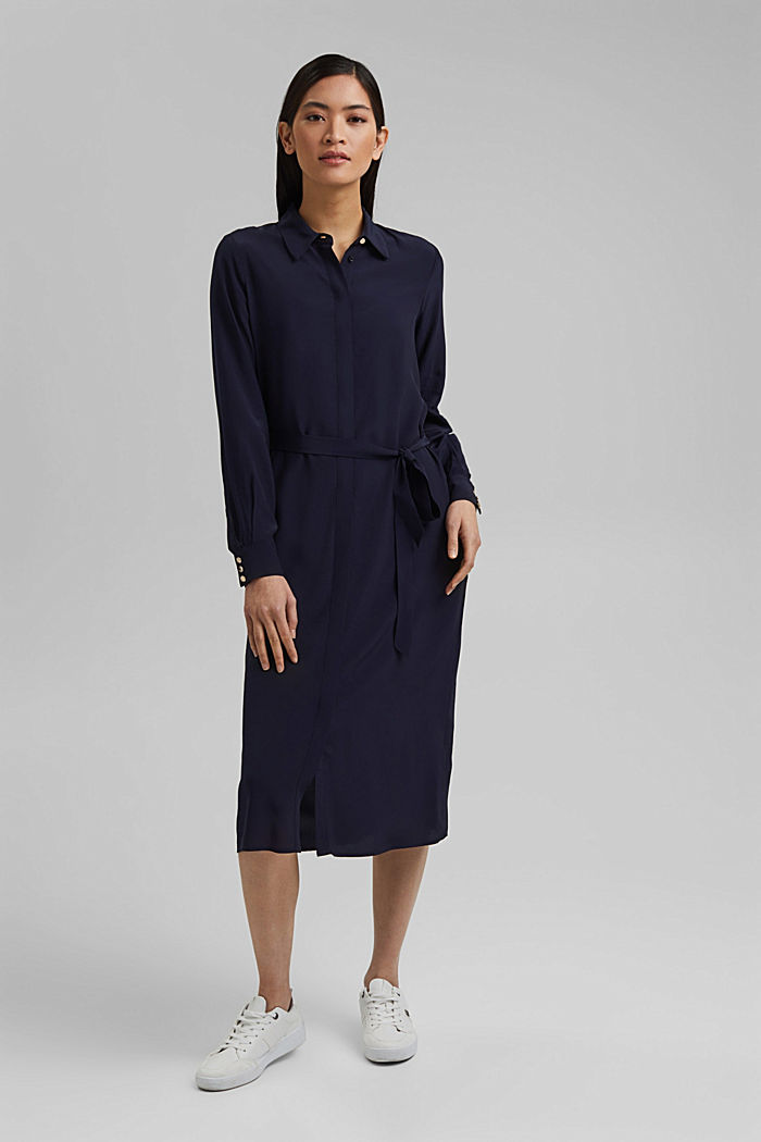 Shirt dress with LENZING™ ECOVERO™