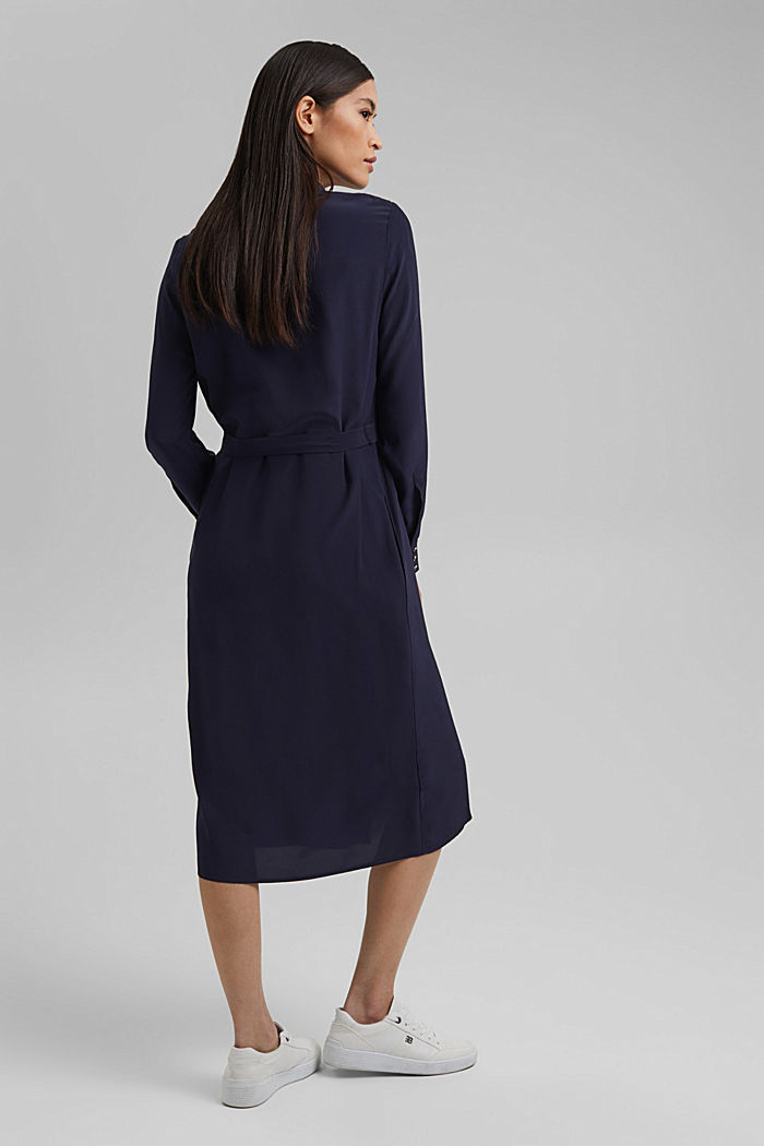 Shirt dress with LENZING™ ECOVERO™, NAVY, detail image number 2