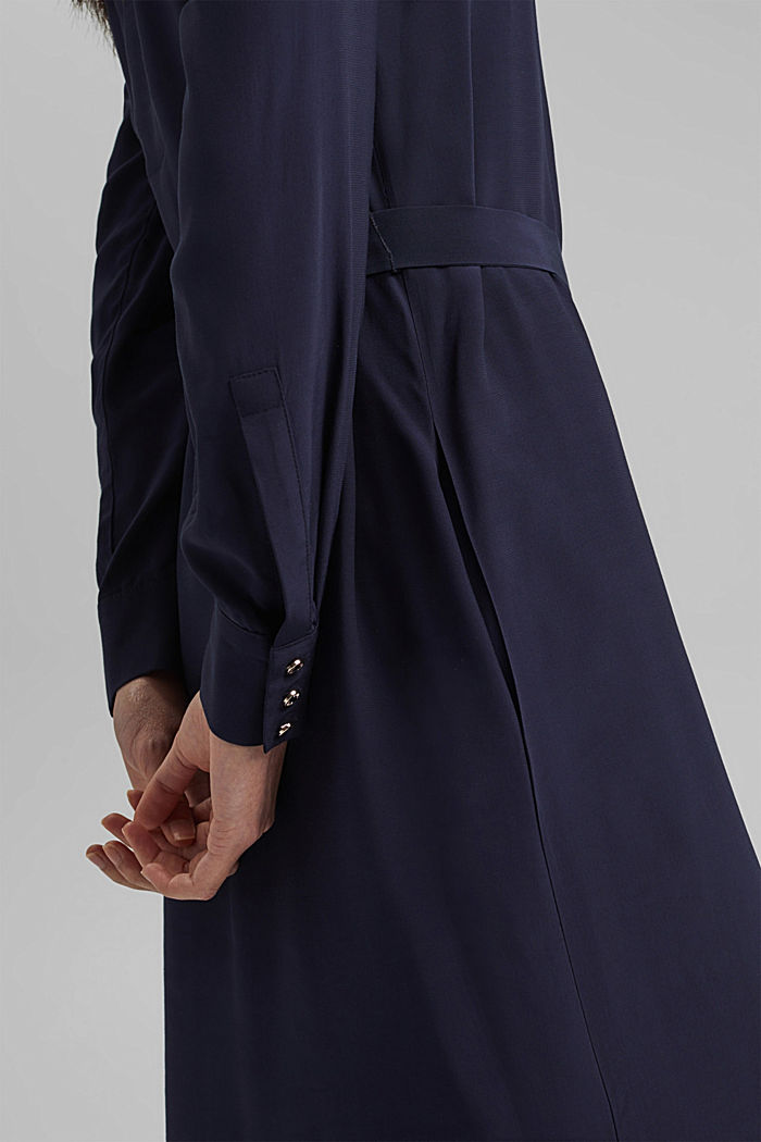 Shirt dress with LENZING™ ECOVERO™, NAVY, detail image number 3