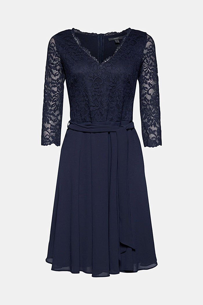 Recycled: chiffon dress with lace