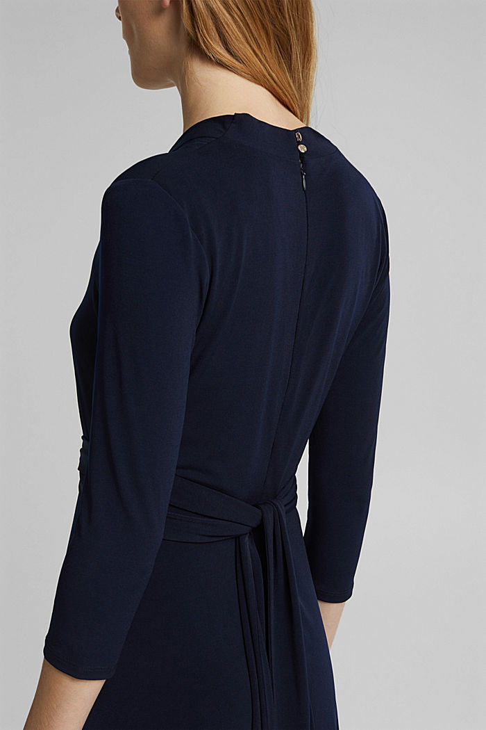 Recycled: jersey dress with a belt, NAVY, detail image number 5
