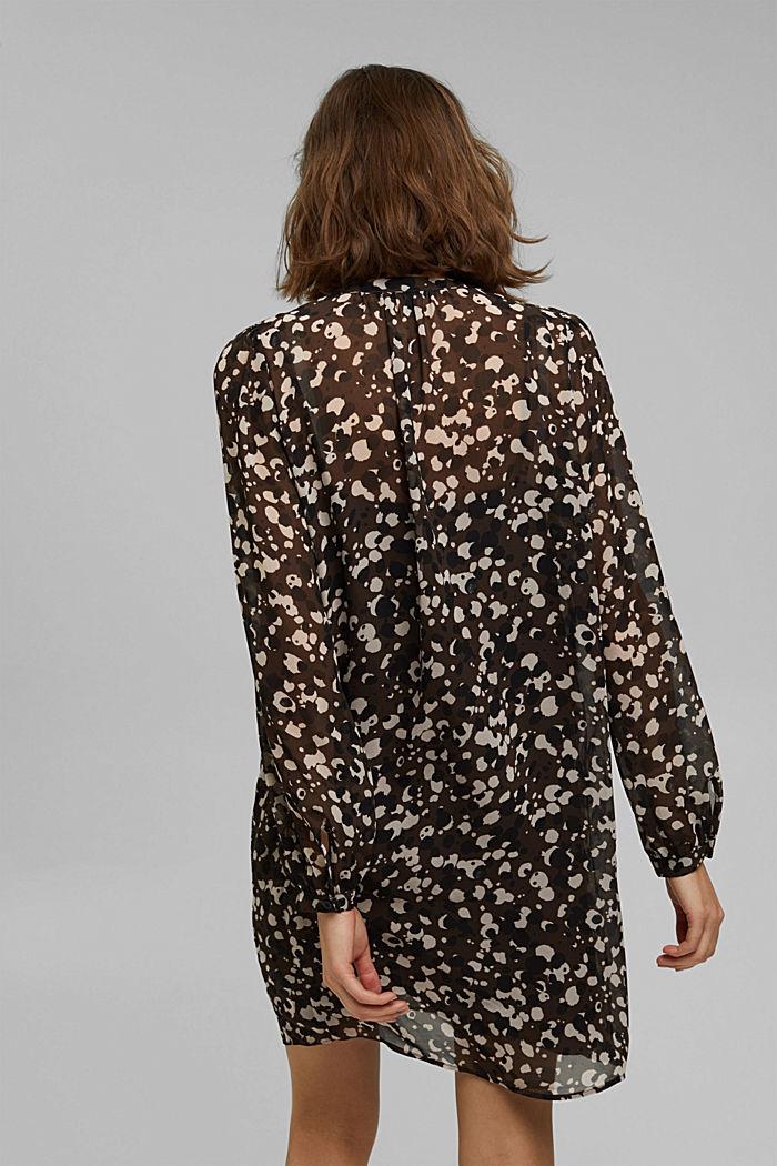 Recycled: printed chiffon dress, DARK BROWN, detail image number 2