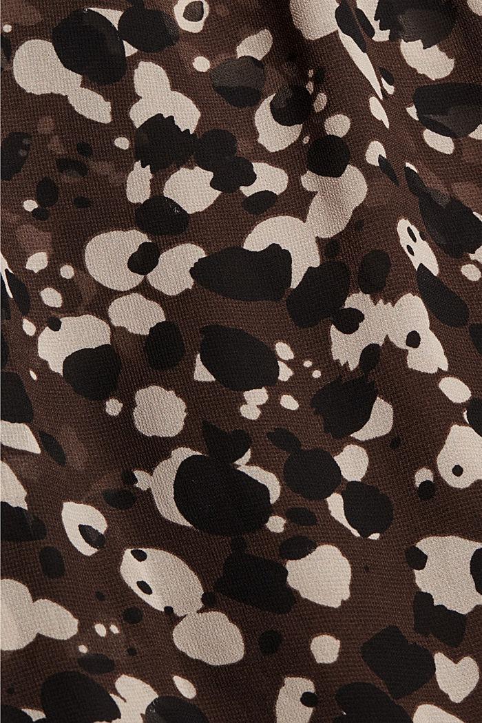 Recycled: printed chiffon dress, DARK BROWN, detail image number 4