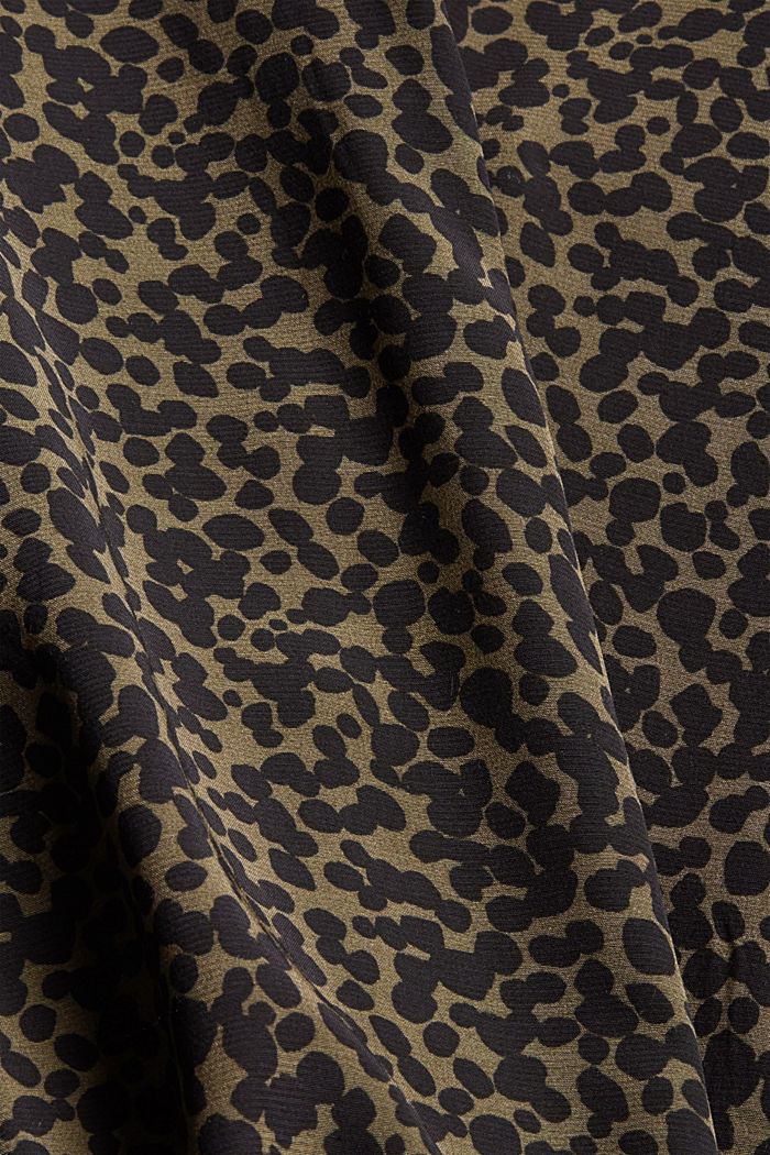 Paitapuseromekko LENZING™ ECOVERO™ -materiaalia, KHAKI GREEN, detail image number 4