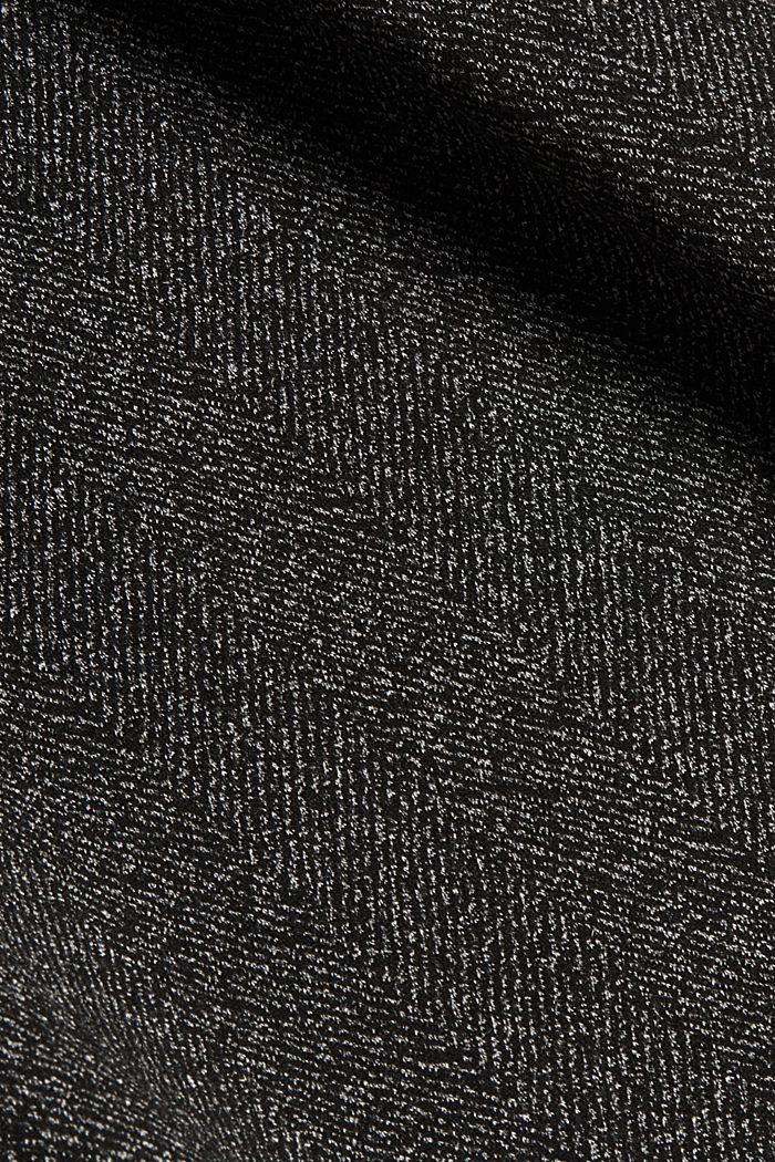 Abito midi con cintura Mix + Match SPINA DI PESCE, BLACK, detail image number 4