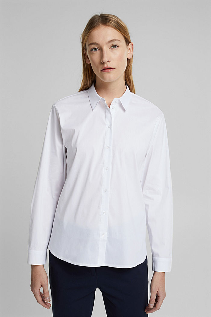 Shirt blouse made of blended cotton