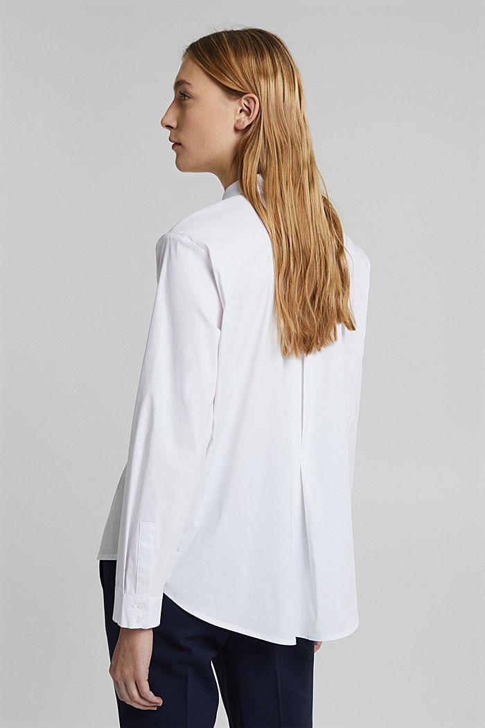 Hemdbluse aus Baumwoll-Mix, WHITE, detail image number 3
