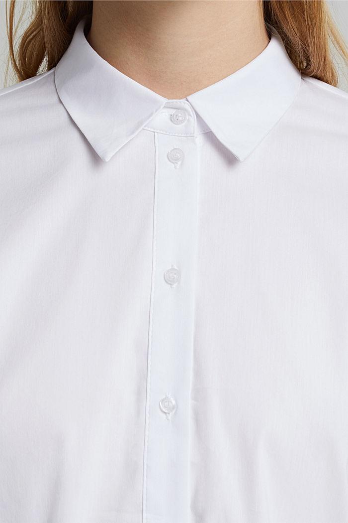Hemdbluse aus Baumwoll-Mix, WHITE, detail image number 2