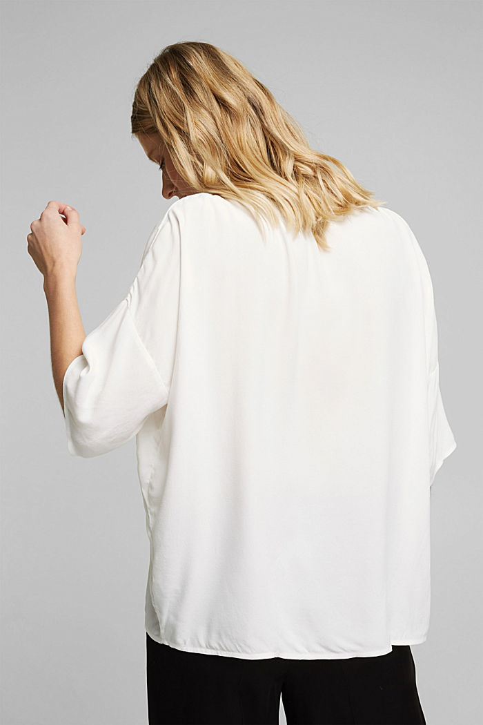 Loose-fitting blouse top, OFF WHITE, detail image number 3