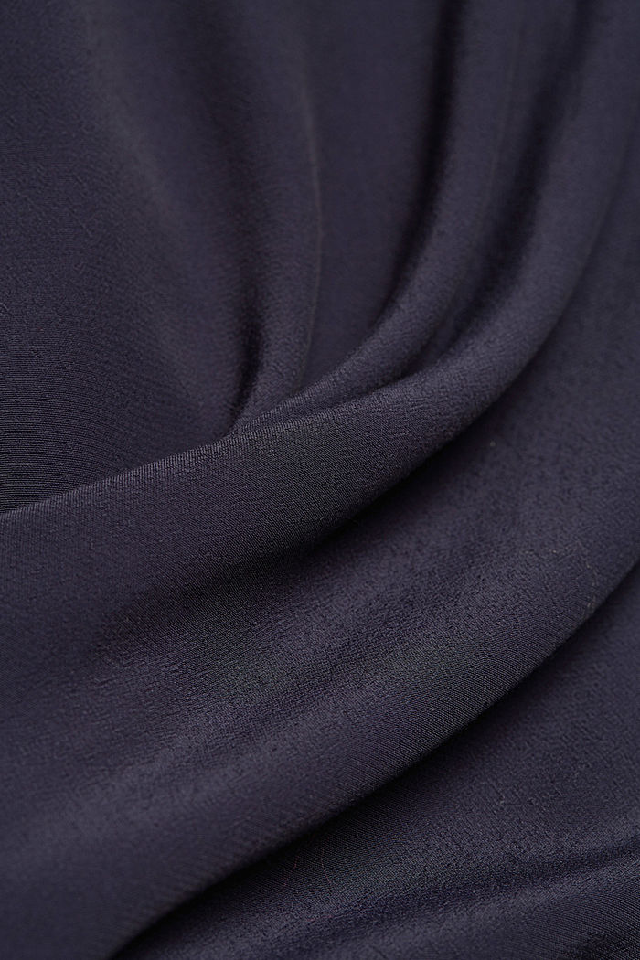Loose-fitting blouse top, NAVY, detail image number 4