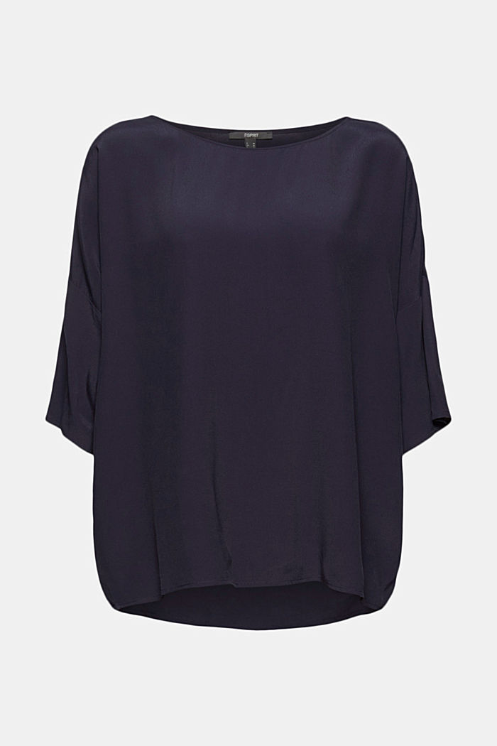 Loose-fitting blouse top, NAVY, detail image number 6