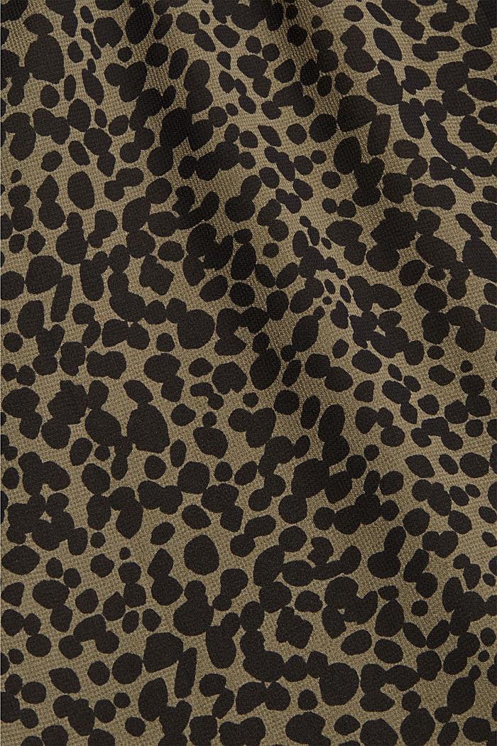 Gerecycled: chiffon blouse met print, KHAKI GREEN, detail image number 4