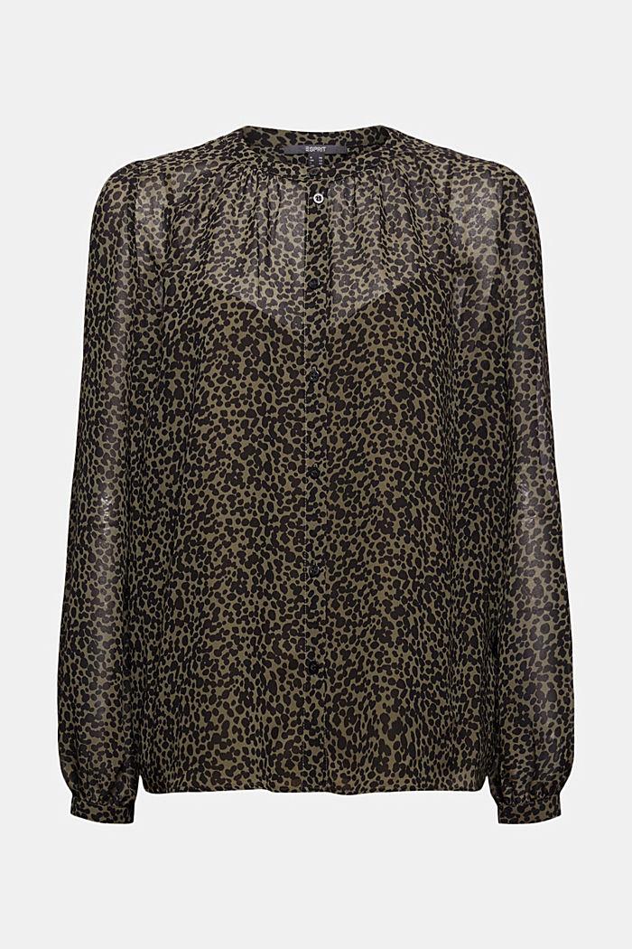 Recycelt: Chiffon-Bluse mit Print