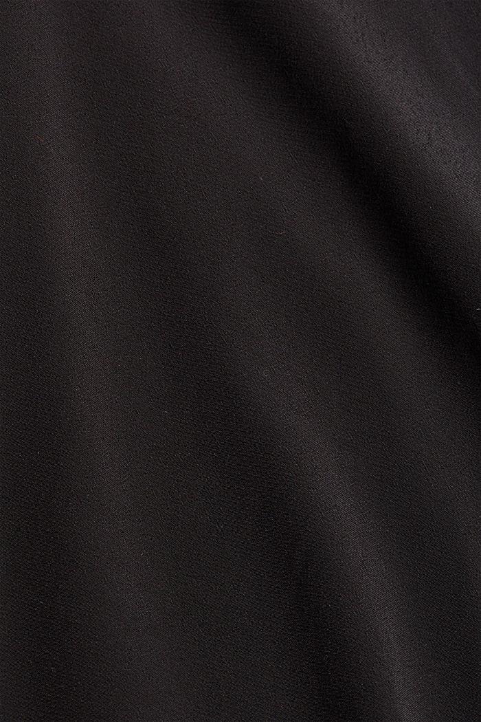 Bluse mit breiten Manschetten, LENZING™ ECOVERO™, BLACK, detail image number 4