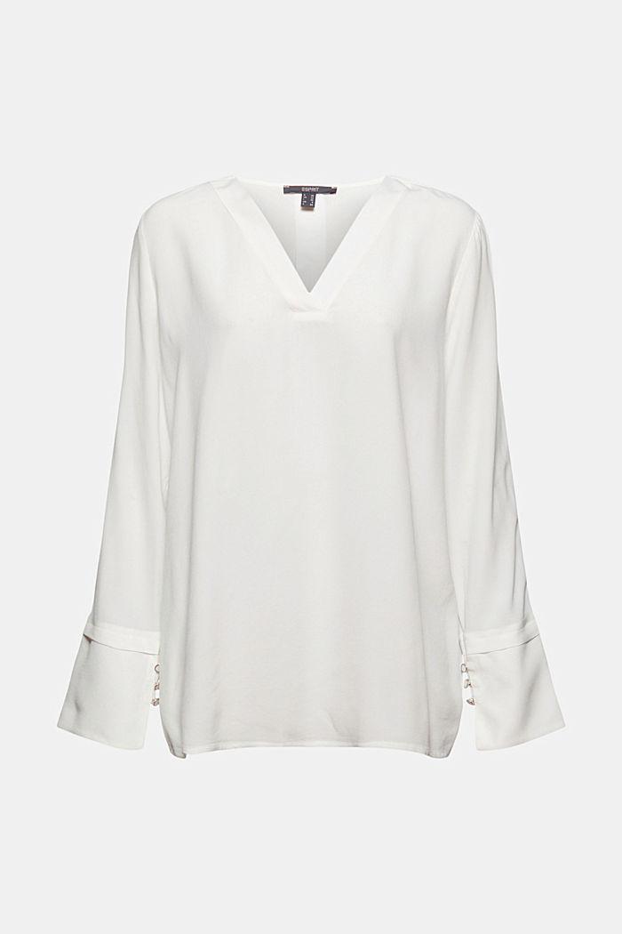 Bluse mit breiten Manschetten, LENZING™ ECOVERO™