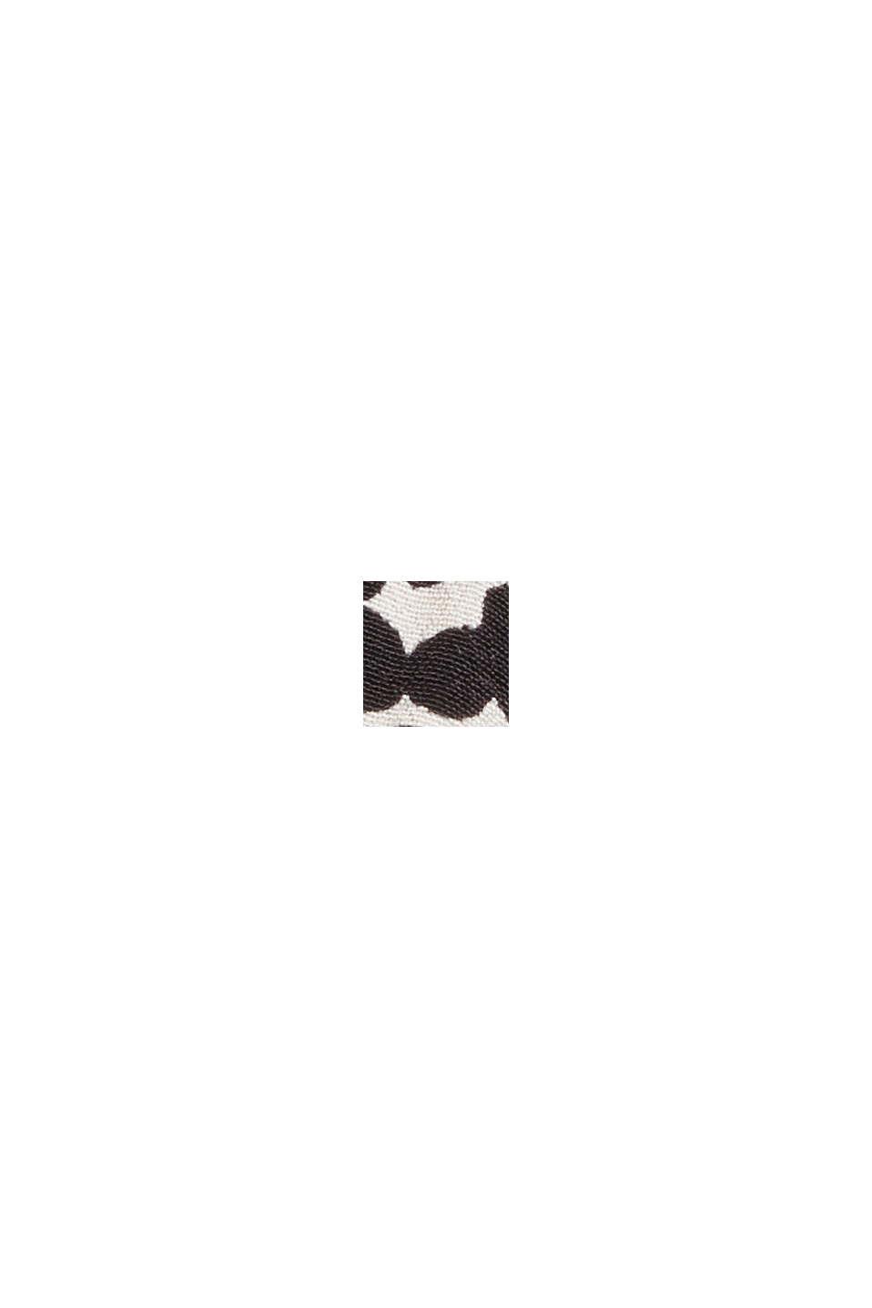 Print-Bluse mit plissiertem Stehkragen, OFF WHITE, swatch