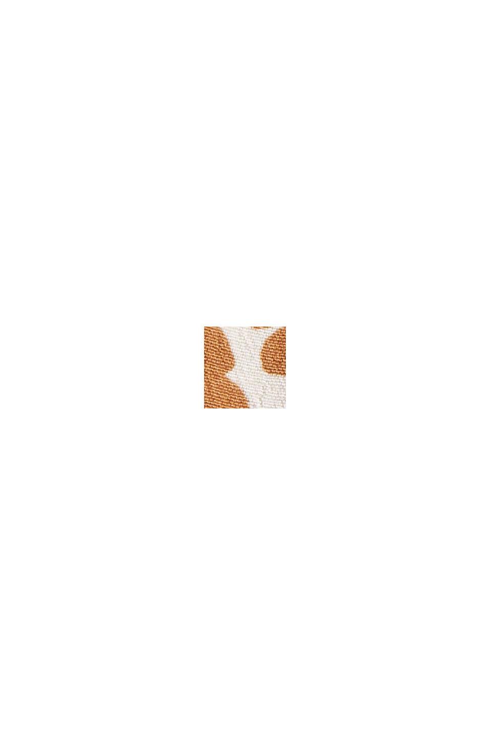 Print-Bluse mit plissiertem Stehkragen, CARAMEL, swatch