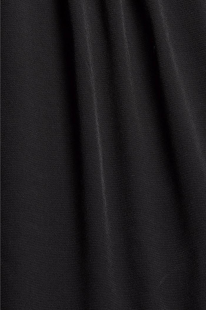 Pleat detail blouse containing LENZING™ ECOVERO™, BLACK, detail image number 4