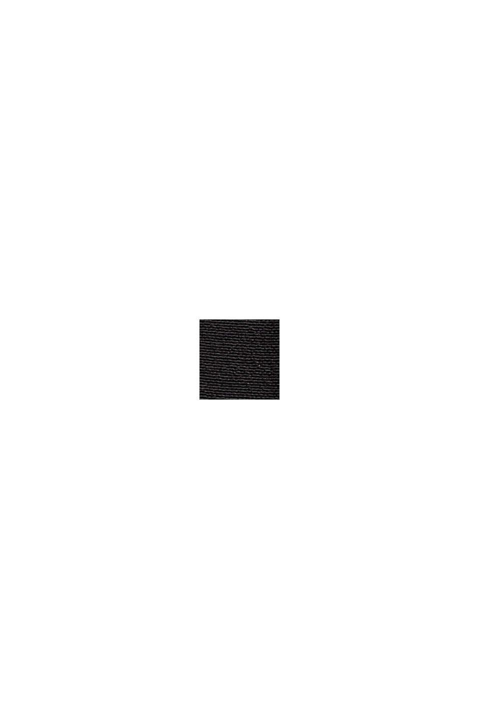 Bluse mit Falten-Akzent und LENZING™ ECOVERO™, BLACK, swatch