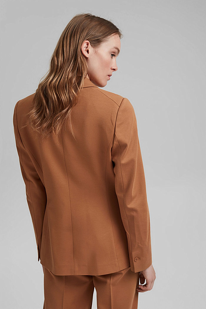 SOFT PUNTO mix + match jersey blazer, CARAMEL, detail image number 3