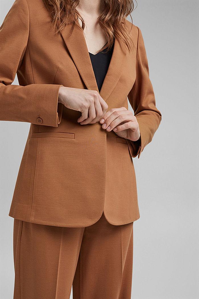 SOFT PUNTO mix + match jersey blazer, CARAMEL, detail image number 2
