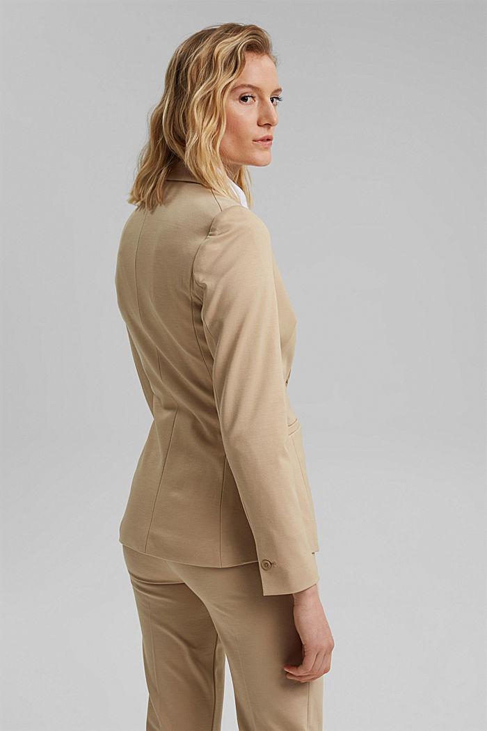 SOFT PUNTO Mix + Match jersey blazer, SAND, detail image number 3