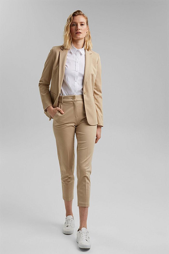 SOFT PUNTO Mix + Match jersey blazer, SAND, detail image number 1